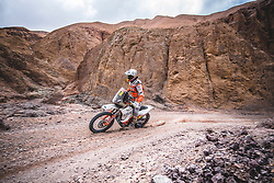 Laia Sanz (ESP) of of Red Bull KTM Factory Team  races during stage 5 of Rally Dakar 2019 from Moquegua to Arequipa, Peru on January 11, 2019. // Flavien Duhamel/Red Bull Content Pool // AP-1Y3N7DTFW2111 // Usage for editorial use only // Please go to www.redbullcontentpool.com for further information. //