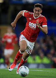 """Nottingham Forest's Tyler Walker during the Carabao Cup, Third Round match at Stamford Bridge, London. PRESS ASSOCIATION Photo. Picture date: Wednesday September 20, 2017. See PA story SOCCER Chelsea. Photo credit should read: Mike Egerton/PA Wire. RESTRICTIONS: EDITORIAL USE ONLY No use with unauthorised audio, video, data, fixture lists, club/league logos or """"live"""" services. Online in-match use limited to 75 images, no video emulation. No use in betting, games or single club/league/player publications."""