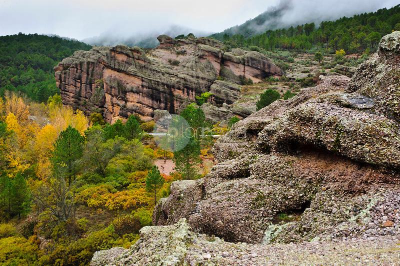 Otoño en el río Cabriel. Serranía de Cuenca. Boniches. Cuenca Castilla La Mancha. España. Europa ©ANTONIO REAL HURTADO / PILAR REVILLA