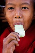 Novice monks at the Pagoda Festival in Bagan, Myanmar (Burma).