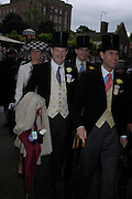 The Earl of Derby and Prince Edward. Royal Ascot Race meeting Ascot at York. Tuesday 14 June 2005. ONE TIME USE ONLY - DO NOT ARCHIVE  © Copyright Photograph by Dafydd Jones 66 Stockwell Park Rd. London SW9 0DA Tel 020 7733 0108 www.dafjones.com