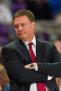 FORT WORTH, TX - FEBRUARY 6: Kansas Jayhawks head coach Bill Self looks on against the TCU Horned Frogs on February 6, 2016 at the Ed and Rae Schollmaier Arena in Fort Worth, Texas.  (Photo by Cooper Neill/Getty Images) *** Local Caption *** Bill Self