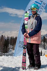 Veronika Perc of Slovenia during Europa Cup Slopestyle Vogel 2014, on March 16, 2014 at Vogel, Slovenia. Photo by Nika Zvokelj / Sportida.com