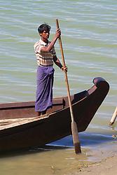 Water Taxi Boatman, Ayeyarwady River