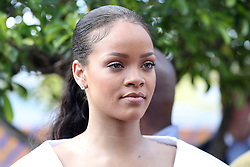 Rihanna attendsthe 'Man Aware' event held by the Barbados National HIV/AIDS Commission in Bridgetown, Barbados, during his tour of the Caribbean.