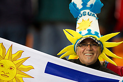 Fan of Uruguay after the 2010 FIFA World Cup South Africa Quarter Finals football match between Uruguay and Ghana on July 02, 2010 at Soccer City Stadium in Sowetto, suburb of Johannesburg. Uruguay defeated Ghana after penalty shots. (Photo by Vid Ponikvar / Sportida)