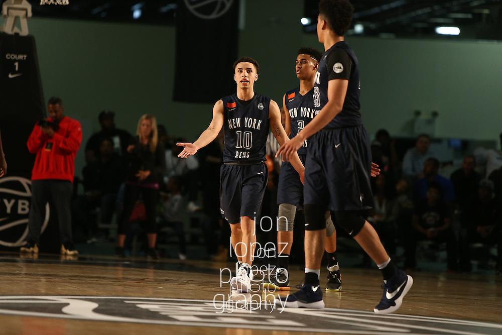 BROOKLYN, NY - APRIL 17: Nike EYBL. Session 1. Jose Alvarado #10 of The Rens (Photo by Jon Lopez)
