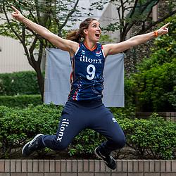 13-10-2018 JPN: World Championship Volleyball Women day 14, Nagoya<br /> Portraits Dutch Volleybal Team - Myrthe Schoot #9 of Netherlands