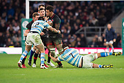 Twickenham, Surrey United Kingdom. Antony WATSON, with the ball, during the England vs Argentina. Autumn International, Old Mutual Wealth series. RFU. Twickenham Stadium, England. <br /> <br /> Saturday  11.11.17.    <br /> <br /> [Mandatory Credit Peter SPURRIER/Intersport Images]