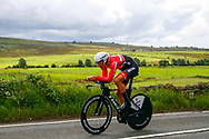 Time Trial Men 45,7 km, Matthias Brandle (Austria) during the Road Cycling European Championships Glasgow 2018, in Glasgow City Centre and metropolitan areas Great Britain, Day 7, on August 8, 2018 - photo Luca Bettini / BettiniPhoto / ProSportsImages / DPPI<br /> - restriction - Netherlands out, Belgium out, Spain out, Italy out