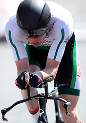 Northern Ireland's Marcus Christie in action during the Men's Individual Time Trial at Currumbin Beachfront on day six of the 2018 Commonwealth Games in the Gold Coast, Australia.