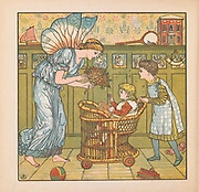 The Baby's bouquet  illustration From the Book ' The baby's bouquet : a fresh bunch of old rhymes & tunes ' by Crane, Walter, 1845-1915; Crane, Lucy, 1842-1882; Evans, Edmund, 1826-1905; Publisher  George Routledge and Sons (London and New York) 1878