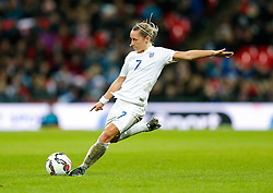 Jordan Nobbs of England shoots - Photo mandatory by-line: Rogan Thomson/JMP - 07966 386802 - 23/11/2014 - SPORT - WOMEN'S FOOTBALL - Wembley Stadium - England v Germany - Breast Cancer Care International Friendly Match.