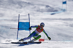 South Korea, PyeongChang - 2018 February 15: Ana Bucik from Slovenia competes while Ski Jumping Ladies' Giant Slalom Run during The 2018 PyeongChang Olympic Winter Games at Yongpyong Alpine Centre on February 15, 2018 in PyeongChang, South Korea.<br /> <br /> Mandatory credit:<br /> Photo by © Adam Nurkiewicz<br /> <br /> Adam Nurkiewicz declares that he has no rights to the image of people at the photographs of his authorship.<br /> <br /> Picture also available in RAW (NEF) or TIFF format on special request.<br /> <br /> Any editorial, commercial or promotional use requires written permission from the author of image.
