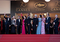 Members of the jury at the opening ceremony and Ismael's Ghosts (Les Fantômes D'ismaël) gala screening,  at the 70th Cannes Film Festival Wednesday May 17th 2017, Cannes, France. Photo credit: Doreen Kennedy