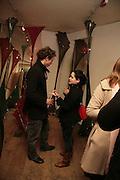 Adam Bainbridge and Jaya Mansberger, Part Two: Concept and Counter-Culture, Riflemaker becomes Indica. 79 Beak St. London W1. 8 January 2007.  -DO NOT ARCHIVE-© Copyright Photograph by Dafydd Jones. 248 Clapham Rd. London SW9 0PZ. Tel 0207 820 0771. www.dafjones.com.