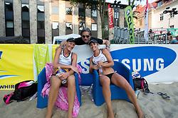 Jan Plestenjak with Andreja Vodeb and Simona Fabjan at tournament for Slovenian national championship - Drzavno prvenstvo Kranj 2013 on July 26, 2013, in Kranj, Slovenia. (Photo by Matic Klansek Velej / Sportida)