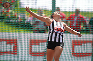 Jade Lally competing in the Women's Discus Throw Final. The British Championships 2016, athletics event at the Alexander Stadium in Birmingham, Midlands  on Sunday 26th June 2016.<br /> pic by John Patrick Fletcher, Andrew Orchard sports photography.