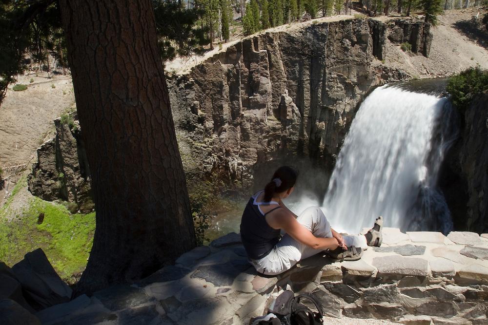 Upper Rainbow Falls in the Ansel Adams Wilderness area near Mammoth Lakes, CA.