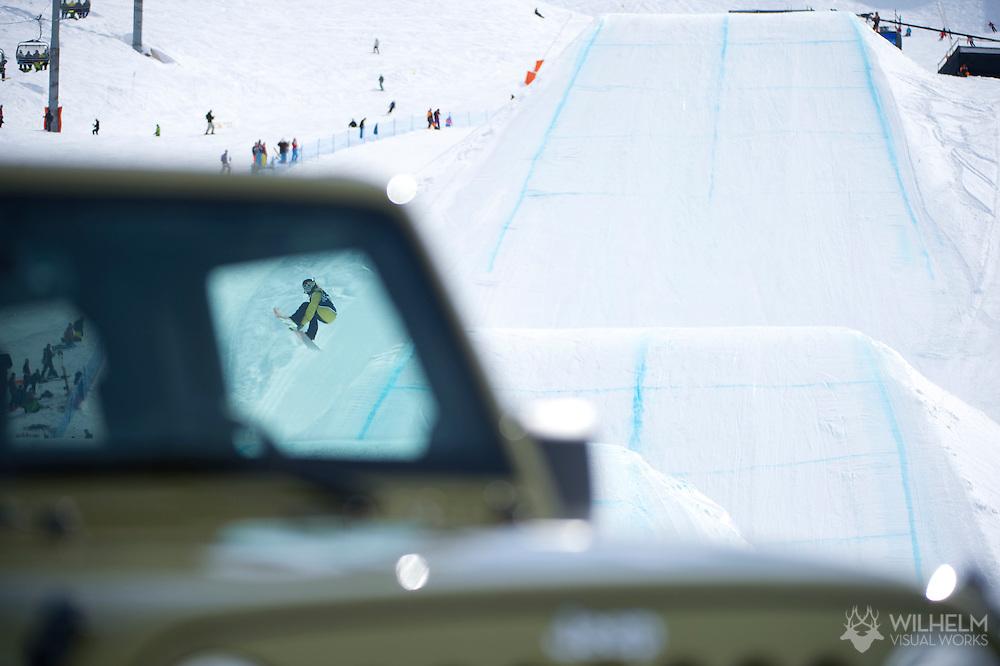 Spencer O'Brien during Women's Snowboard Slopestyle Finals at the 2013 X Games Tignes in Tignes, France. ©Brett Wilhelm/ESPN