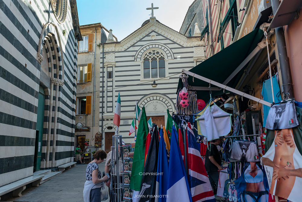 Street scene in Monterosso, Italy
