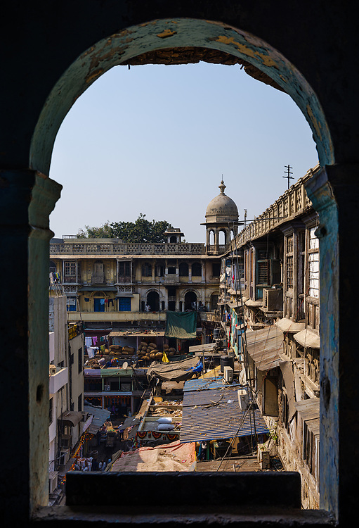NEW DELHI, INDIA - CIRCA NOVEMBER 2018: Interior view of the Gadodia Spice Market in Old Delhi. This market is full of stores and it is one the largest spice markets in Asia. It is located to the south of the famous Khari Baoli Street.