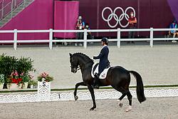 TOKYO - Olympische Spiele / Olympic Games 2021<br /> <br /> LYLE Adrienne (USA), Salvino<br /> Grand Prix de Dressage<br /> <br /> Tokio, Equestrian Park<br /> 25. July 2021<br /> © www.sportfotos-lafrentz.de/Stefan Lafrentz