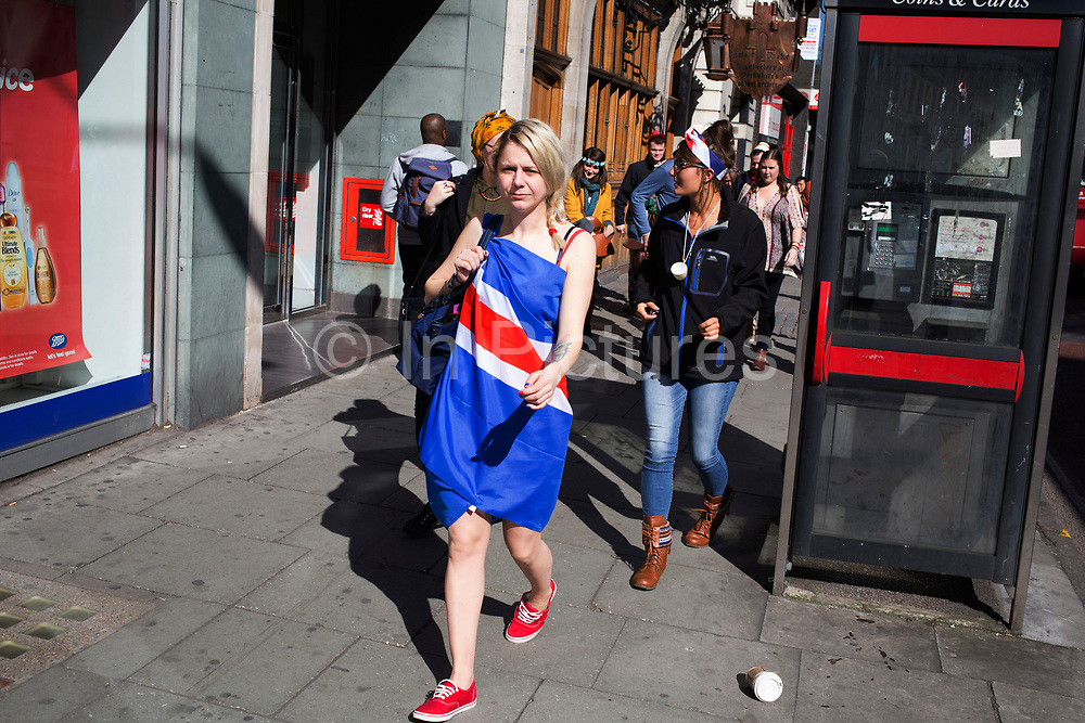 Woman on her hen party wearing a Union Jack flag as a dress, central London, UK. A bachelorette party, hen party, hen night or hen do, is a party held for a woman who is about to get married. The terms hen party, hen do or hen night are common in the United Kingdom.