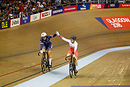 Women Sprint, Mathilde Gros (France), Daria Shmeleva (Russian Federation), during the Track Cycling European Championships Glasgow 2018, at Sir Chris Hoy Velodrome, in Glasgow, Great Britain, Day 4, on August 5, 2018 - Photo Luca Bettini / BettiniPhoto / ProSportsImages / DPPI - Belgium out, Spain out, Italy out, Netherlands out -