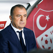 Turkey's coach Fatih Terim during their UEFA Euro 2016 qualification Group A soccer match Turkey betwen Czech Republic at Sukru Saracoglu stadium in Istanbul October 10, 2014. Photo by Aykut AKICI/TURKPIX