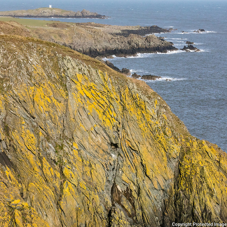 Isle of Whithorn Tower from near Burrow Point, Dumfries and Galloway, Scotland.