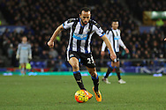 Andros Townsend of Newcastle United in action. Barclays Premier League match, Everton v Newcastle United at Goodison Park in Liverpool on Wednesday 3rd February 2016.<br /> pic by Chris Stading, Andrew Orchard sports photography.