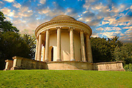 The Palladian  Style Temple of Ancient Virtue designed by William Kent in 1731 , Stowe, Buckingham, England .<br /> <br /> Visit our EARLY MODERN ERA HISTORICAL PLACES PHOTO COLLECTIONS for more photos to buy as wall art prints https://funkystock.photoshelter.com/gallery-collection/Modern-Era-Historic-Places-Art-Artefact-Antiquities-Picture-Images-of/C00002pOjgcLacqI