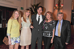 Left to right, CLARISTA HOULT, ROSANNA HOULT, actor NICHOLAS HOULT and their parents ROGER & GLENIS HOULT at the Audi Ballet Evening held at the Royal Opera House, Bow Street, Covent Garden, London on 22nd March 2012.
