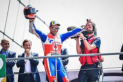 May 20, 2018 - Le Mans, France - 9 DANILO PETRUCCI (ITA) ALMA PRAMAC RACING (ITA) DUCATI DESMOCEDICI GP18 SECOND PLACE (Credit Image: © Panoramic via ZUMA Press)