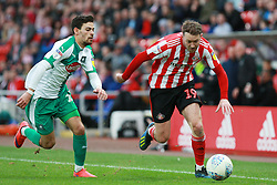 March 2, 2019 - Sunderland, England, United Kingdom - Sunderland's Aidan McGeady contests for the ball with Plymouth Argyle's Ruben Lameiras during the Sky Bet League 1 match between Sunderland and Plymouth Argyle at the Stadium Of Light, Sunderland on Saturday 2nd March 2019. (Credit Image: © Mi News/NurPhoto via ZUMA Press)