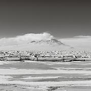 Explorers Cove with Erebus Volcano