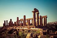 17-10-2015 -  Foto: Tempel van Juno ook wel Hera. Genomen tijdens een persreis rond de Rocco Forte Invitational in Agrigento, Italië.