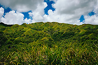 A view of a mountain range along the interior of Guam.