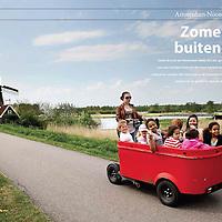 Folder voor Woningbouwcorporatie Rochdale met fietstocht in de omgeving van Amsterdam.