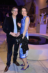 THOMASINA MIERS and MARK WILLIAMS at a private view of Alexander McQueen's Savage Beauty exhibition hosted by Samsung BlueHouse at the V&A, London on 30th March 2015.