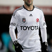 Besiktas's Simao Sabrosa during their Turkey Cup matchday 3 soccer match Besiktas between Gaziantepspor BSB at the Inonu stadium in Istanbul Turkey on Wednesday 11 January 2012. Photo by TURKPIX