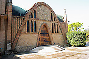 Winery building. Traditional Catalan architecture style. Codorniu, Sant Sadurni d'Anoia, Penedes, Catalonia, Spain