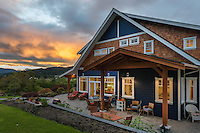 A new farmhouse built by Falcon Heights Contracting overlooks the farmlands of the Saanich Penninsula on Vancouver Island. BC.