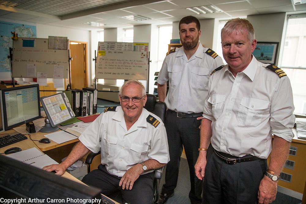 7/7/15 Martin Furlong, Alan Osborne and Matt Haugh, at the Irish Coast Guard at the Department of Transport, Tourism and Sport, Leeson Lane, Dublin. Picture:Arthur Carron