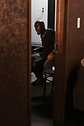 April 28-New York, New York: Recording Artist/Actor Yasiin Bey backstage during the Soul In The Horn Live: Presents Yasiin Bey curated by D'Prosper held at Sony Hall on April 28, 2018 in New York City . (Photo by Terrence Jennings/terrencejennings.com)
