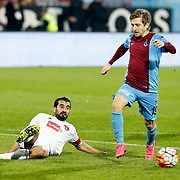 Trabzonspor's Marko Marin (R) during their Turkish Super League match Trabzonspor between Gaziantepspor at the Avni Aker Stadium at Trabzon Turkey on Wednesday, 28 October 2015. Photo by Aykut AKICI/TURKPIX