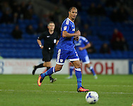 Marouane Chamakh of Cardiff city in action. EFL Skybet championship match, Cardiff city v Sheffield Wednesday at the Cardiff city stadium in Cardiff, South Wales on Wednesday 19th October 2016.<br /> pic by Andrew Orchard, Andrew Orchard sports photography.