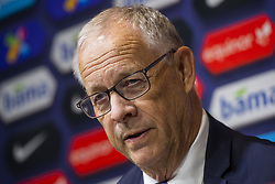 March 26, 2019 - Oslo, NORWAY - 190326 Lars Lagerbäck, head coach of Norway, during a press conference after the UEFA Euro qualifier football match between Norway and Sweden on March 26, 2019 in Oslo..Photo: Fredrik Varfjell / BILDBYRÃ…N / kod FV / 150223. (Credit Image: © Fredrik Varfjell/Bildbyran via ZUMA Press)