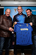 AFC Wimbledon midfielder Mitchell (Mitch) Pinnock (11), sponsor during the EFL Sky Bet League 1 match between AFC Wimbledon and Southend United at the Cherry Red Records Stadium, Kingston, England on 24 November 2018.